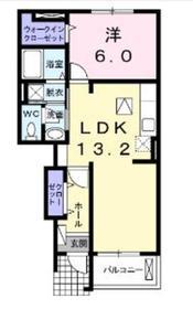 シエルブルー1階Fの間取り画像
