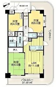ライオンズマンション登戸駅前2階Fの間取り画像