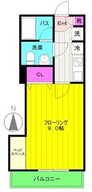 読売ランド前駅 徒歩5分3階Fの間取り画像