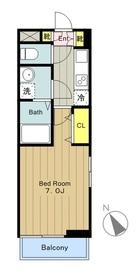 カリーノⅣ3階Fの間取り画像