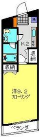 武蔵中原駅 徒歩15分3階Fの間取り画像
