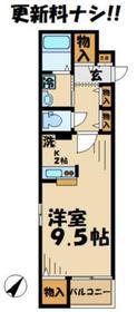 京王永山駅 徒歩10分2階Fの間取り画像