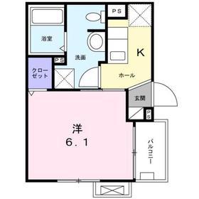 オランジェリー3階Fの間取り画像