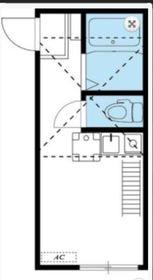 メゾンフィエール横浜1階Fの間取り画像