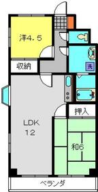 ハピネス飯田Ⅱ4階Fの間取り画像