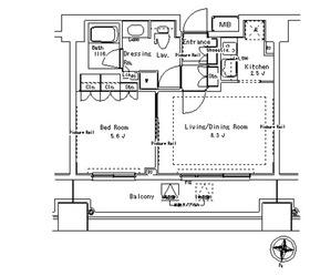 パークアクシス御茶ノ水ステージ7階Fの間取り画像