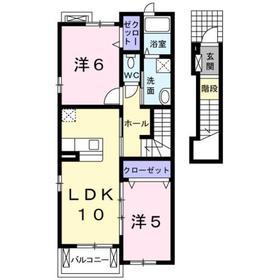 アウローラⅠ2階Fの間取り画像