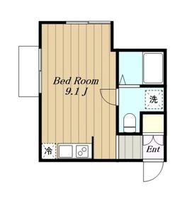 APARTMENT BROWNIE アパートメントブラウニー1階Fの間取り画像