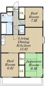 パークコートZAMA4階Fの間取り画像