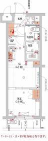 (仮)武蔵小杉フォレストスクエアレジデンス3階Fの間取り画像