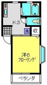 コーポサザンクロス1階Fの間取り画像