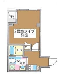 リベルタ銀座イースト6階Fの間取り画像
