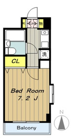 デイム橋本8階Fの間取り画像