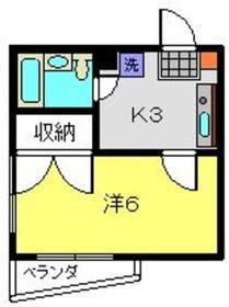 エクセルシア松ヶ丘2階Fの間取り画像