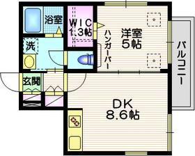 ファミール西大井3階Fの間取り画像
