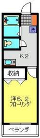 ハイツサンシャイン3階Fの間取り画像
