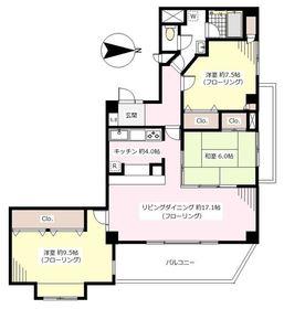 ヴェルジェ桜新町3階Fの間取り画像