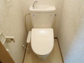 温水洗浄便座機能が付いたトイレです。