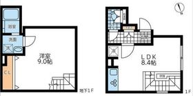 LEGALAND神楽坂北1階Fの間取り画像