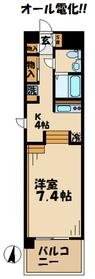 リココリーナ4階Fの間取り画像