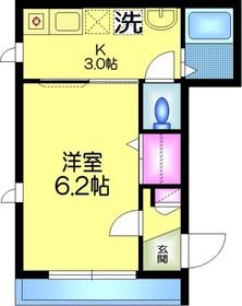 メゾン フィールズ3階Fの間取り画像