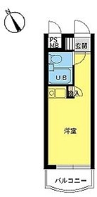 スカイコート世田谷4階Fの間取り画像