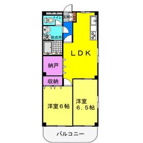 ザ・カスピア2階Fの間取り画像