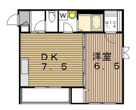 グラシア駒沢公園通り2階Fの間取り画像