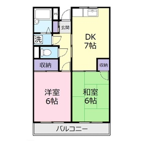 ヴィラヤマダ3階Fの間取り画像
