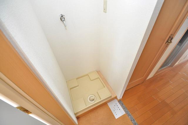 ロータリーマンション長田東 室内に洗濯機置き場があれば雨の日でも安心ですね。
