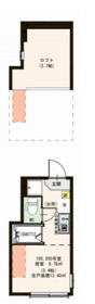 ティアラ新川崎2階Fの間取り画像