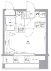 リクレイシア西横浜8階Fの間取り画像