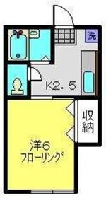 堀越アパート2階Fの間取り画像