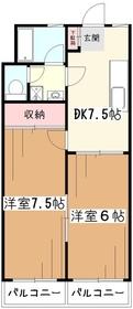 セラミック大和2階Fの間取り画像