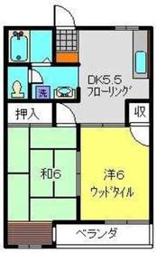高田駅 徒歩6分2階Fの間取り画像