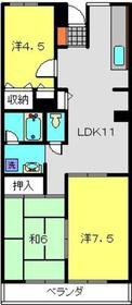 新羽駅 徒歩8分2階Fの間取り画像