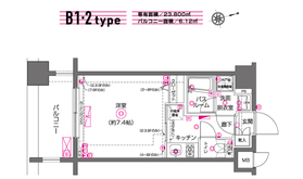 ZOOM川崎8階Fの間取り画像