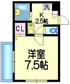 コルベーユ3階Fの間取り画像