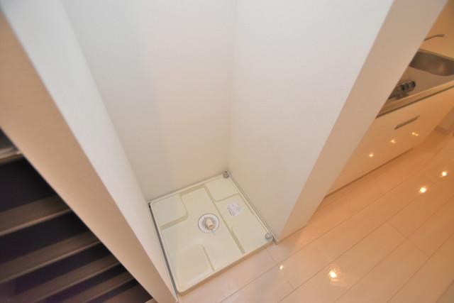 リブリ・布施 嬉しい室内洗濯機置場。これで洗濯機も長持ちしますね。