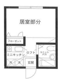 ハーミットクラブハウス鶴ヶ峰A棟1階Fの間取り画像