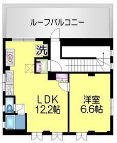 ベルクレール十番館4階Fの間取り画像