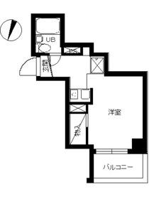 スカイコート川崎59階Fの間取り画像