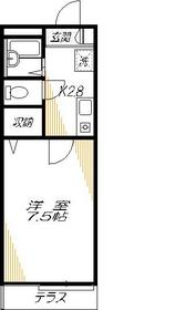 矢口渡駅 徒歩20分1階Fの間取り画像