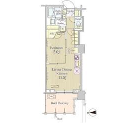 五反田駅 徒歩5分2階Fの間取り画像