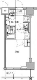 ハーモニーレジデンス品川ウエスト#0027階Fの間取り画像