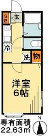 杉本ハイツ1階Fの間取り画像