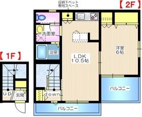 メゾンオリーブわん2階Fの間取り画像