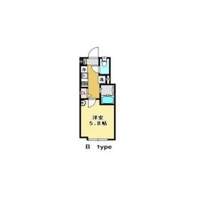 BAY FLAT HOSHIKAWA1階Fの間取り画像