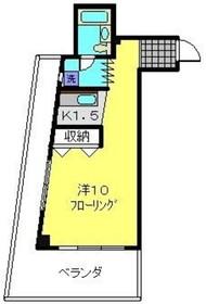 カーネ本牧3階Fの間取り画像