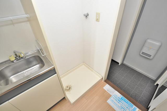 オークハイツ 洗濯機置場が室内にあると本当に助かりますよね。